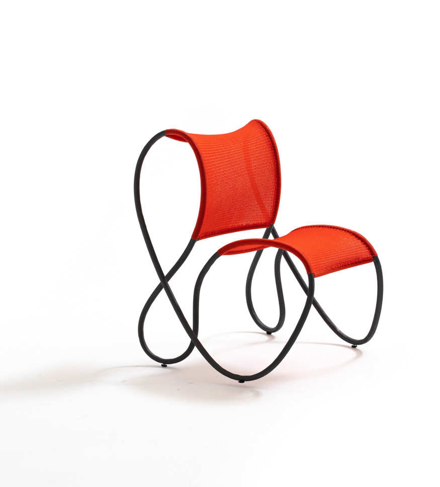 Outdoor furniture collection Modou designed by Ron Arad for Moroso photo courtesy of Moroso